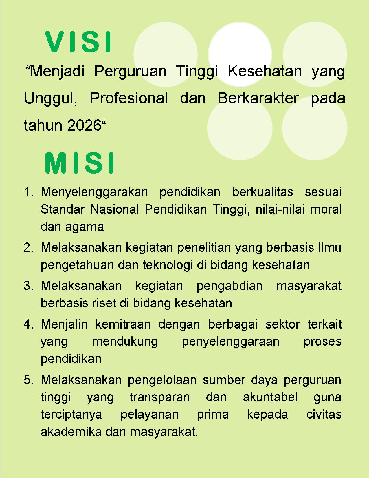 Visi dan Misi Poltekkes Banten